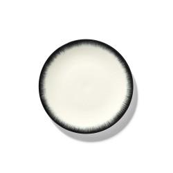 Assiettes porcelaine Serax Dé Ann Demeulemeester 17.5cm Blanc/Noir V3