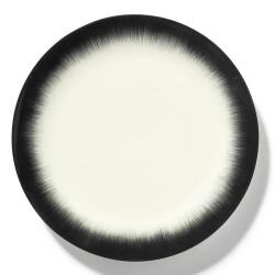 Assiettes porcelaine Serax Dé Ann Demeulemeester 28cm Blanc/Noir V4