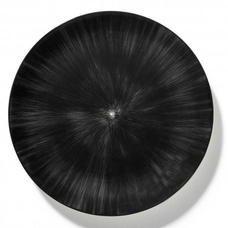 Assiettes porcelaine Serax Dé Ann Demeulemeester 28cm Blanc/Noir V6
