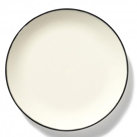 Assiettes porcelaine Serax Dé Ann Demeulemeester 28cm Blanc/Noir V1