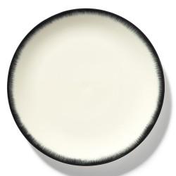 Assiettes porcelaine Serax Dé Ann Demeulemeester 28cm Blanc/Noir V3