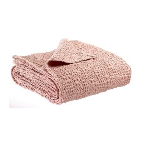 Jeté de lit coton stonewashed Tana Aubépine, Vivaraise