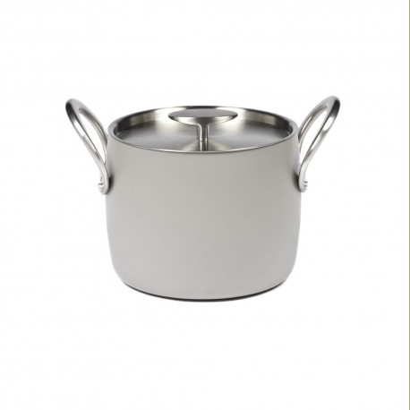 Batterie de cuisine induction - Marmite D18cm anti adhésive Pure Cookware Stone grey, Pascale Naessens Serax