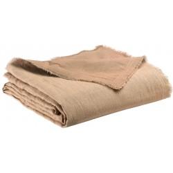 Plaid Zeff Nomade Sable en lin et coton, Vivaraise