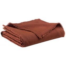 Plaid Zeff Nomade Caramel en lin et coton, Vivaraise