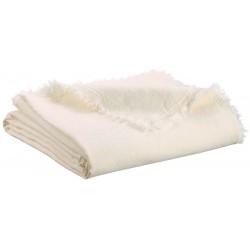 Plaid Zeff Nomade Craie en lin et coton, Vivaraise