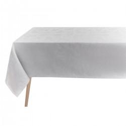 Tissu nappe au metre Tivoli Perle pur lin laize 180 ou 245cm, Le Jacquard Français