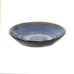 Plat de service 32cm céramique Pure Bleu, Serax par Pascale Naessens