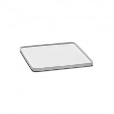 Assiette carrée porcelaine 20x20 cm HEII, Marcel Wolterinck - Serax