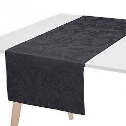 Chemin de table pur lin Tivoli Onyx, Le Jacquard Français