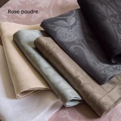 Serviettes de table Tivoli Rose poudre pur lin, Le Jacquard Français