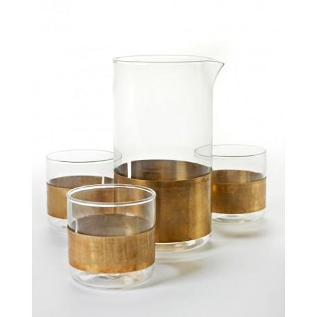 Service verres cuivre 20cl et Carafe 93cl, Niels Datema - Serax