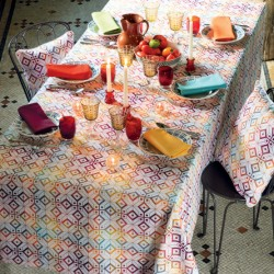 Nappe coton Mille Pavés Flamboyant, Garnier-Thiébaut