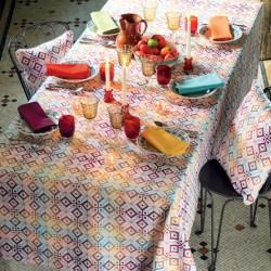 Nappes sur mesure Mille Pavés Flamboyant, Garnier-Thiébaut