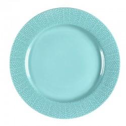 Médard de Noblat - Assiettes plate 27cm grès Grain de Malice Turquoise