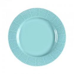 Médard de Noblat - Coffret de 6 assiettes dessert 21cm grès Grain de Malice Turquoise