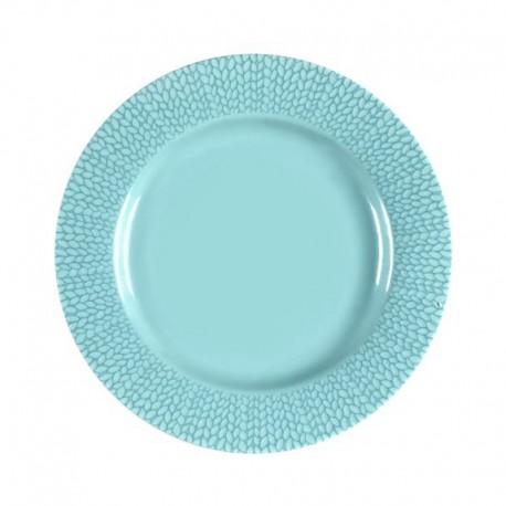 Médard de Noblat - Assiette dessert 21cm grès Grain de Malice Turquoise