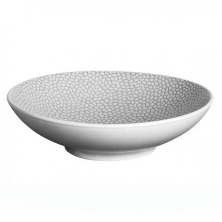 Médard de Noblat - Assiette pasta 19cm grès Stone Gris clair