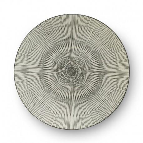 Médard de Noblat - Assiette plate 27cm grès Hypnose