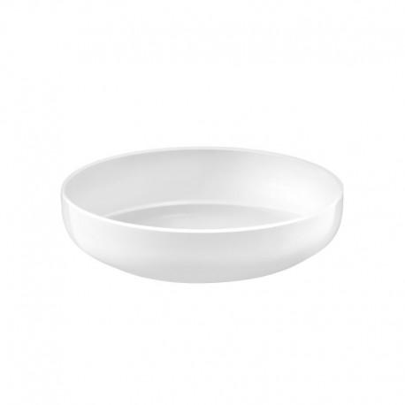 Médard de Noblat - Assiette pasta 20cm porcelaine Yaka Blanc