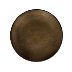 Médard de Noblat - Assiette dessert 21cm grès Feeling Bronze