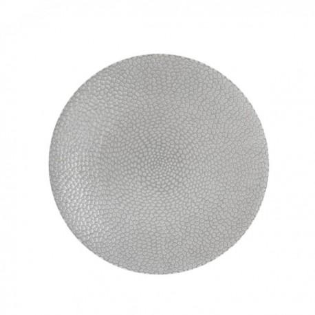 Médard de Noblat - Assiette dessert 20cm grès Stone Gris clair