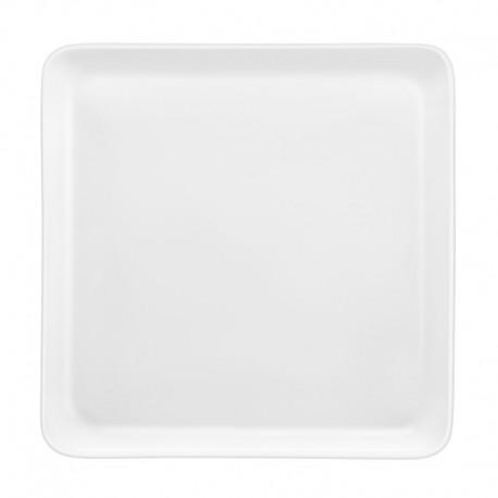 Médard de Noblat- Assiette carrée 25.5 x 25.5 cm porcelaine Yaka Blanc