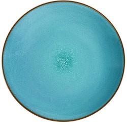 Médard de Noblat - Coffret de 6 assiettes plates 26.5cm grès Feeling Turquoise