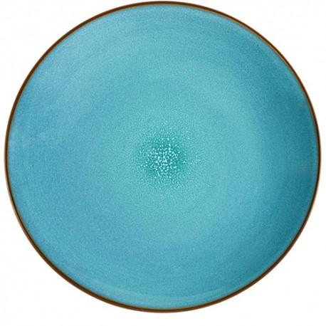 Médard de Noblat - Assiette plate grès Feeling Turquoise