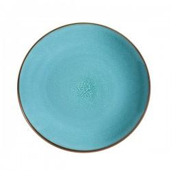 Médard de Noblat - Assiette dessert grès Feeling Turquoise