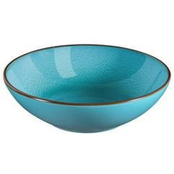 Médard de Noblat - Assiette pasta 18cm grès Feeling Turquoise