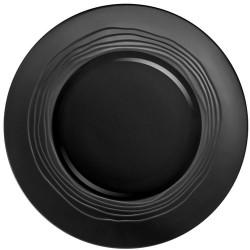 Médard de Noblat - Coffret de 6 assiettes plates 27.5cm grès Escale Noir