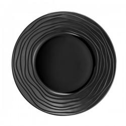 Médard de Noblat - Assiette dessert 21.5cm grès Escale Noir