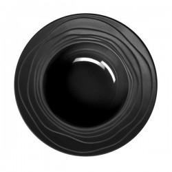 Médard de Noblat - Assiette creuse 22.2cm grès Escale Noir