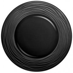 Médard de Noblat - Assiette de présentation 31.5cm grès Escale Noir