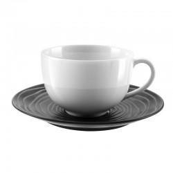 Médard de Noblat - Tasse et soucoupe déjeuner 40cl grès & porcelaine Escale Noir