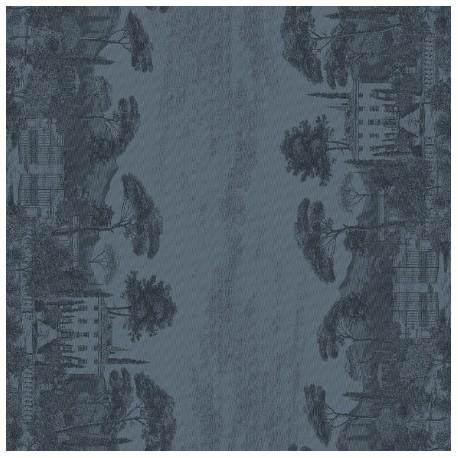 Tissu nappe au metre Palazzina Crépuscule en 180cm, Garnier-Thiébaut