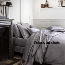 Parure de lit unie en satin de coton Teo, Alexandre Turpault