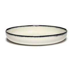 Assiettes porcelaine hautes Serax Dé Ann Demeulemeester 24cm Blanc/Noir VA