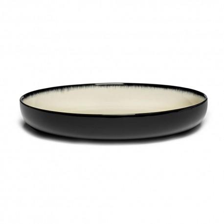 Assiettes porcelaine hautes Serax Dé Ann Demeulemeester 24cm Blanc/Noir VD