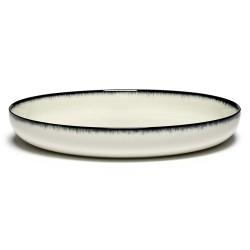 Plat de service porcelaine Serax Dé Ann Demeulemeester 27cm Blanc/Noir VA
