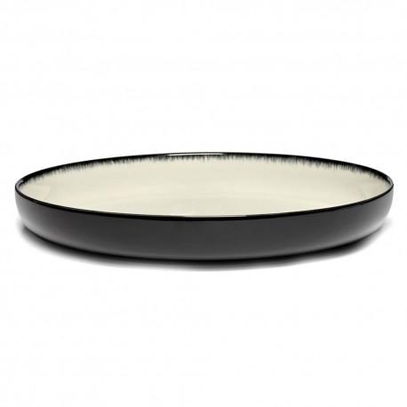 Plat de service en porcelaine Serax Dé Ann Demeulemeester 27cm Blanc/Noir VD