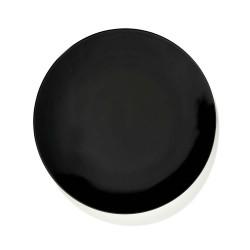 Serax Dé Ann Demeulemeester - Coffret de 2 Assiettes plates en porcelaine 24cm Noir