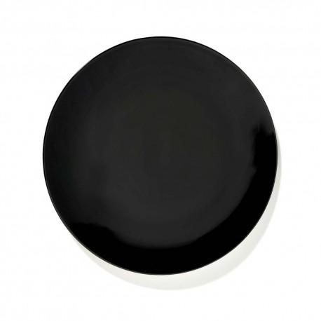 Assiettes porcelaine Serax Dé Ann Demeulemeester 24cm Noir