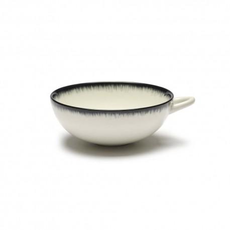 Tasse 20cl en porcelaine Blanc/Noir VA - Serax Dé Ann Demeulemeester