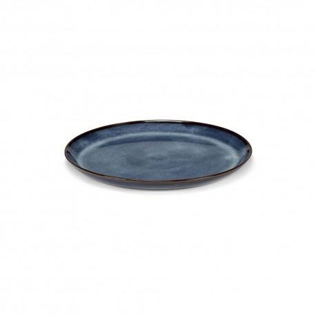 Assiettes ceramique 23.5cm Pure Bleu indigo, Pascale Naessens Serax