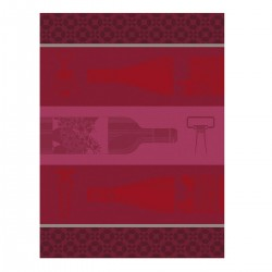 Torchon Vin en Bouteille Rouge, Le Jacquard Français