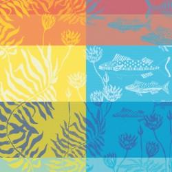Serviettes de table Aquatic Rainbow, Garnier-Thiébaut