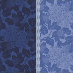 Serviettes de table coton Bio Hortensias Bleu, Garnier-Thiébaut