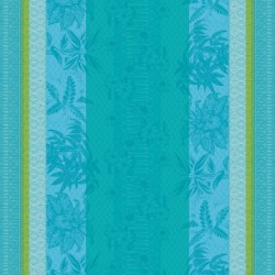 Tissu enduit nappe Mille Alocasias Atoll, laize 155cm, Garnier-Thiébaut
